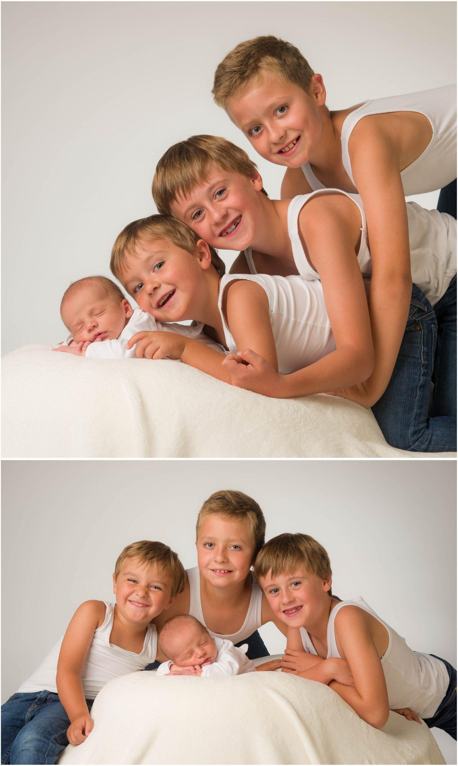 groepsfoto met baby